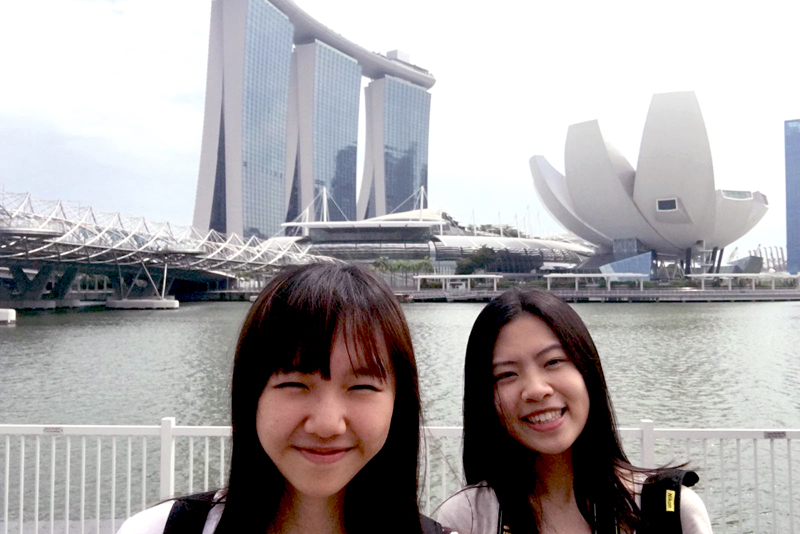 19-20 Visiting Marina Bay with another exchange student